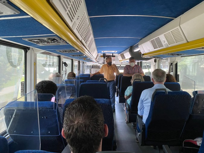 Image of people on a bus