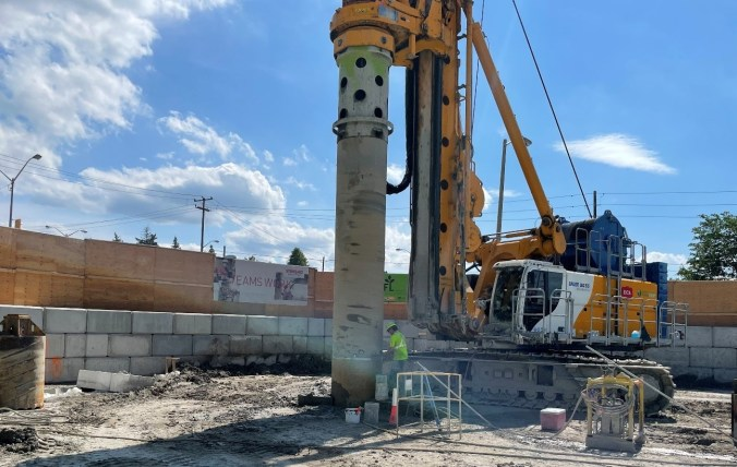Image shows a large drill.