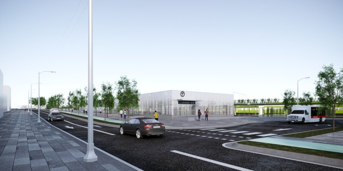 The new St. Clair-Old Weston GO station. Artist's rendering, final designs are subject to change.