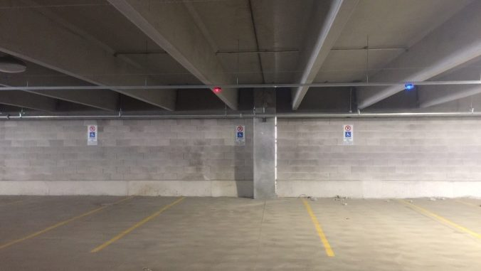 A look inside the new parking garage at Bramalea GO Station featuring a new system that helps customer open spots quicker.