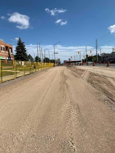 Image shows the road being widened.