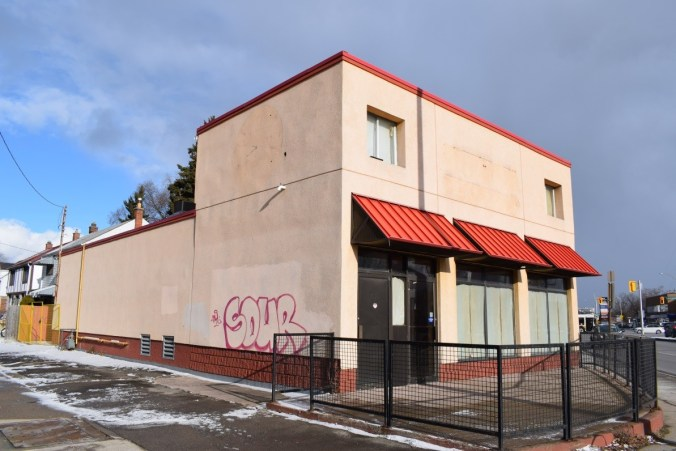Image shows an old building.