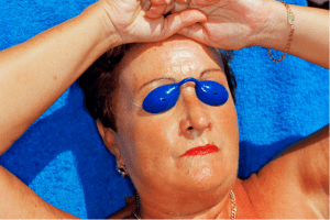 Martin Parr. Common Sense/Benidorm (blue lady), 1998