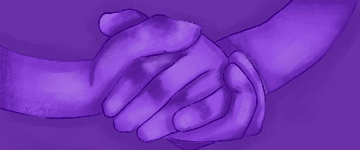 Um par de mãos sendo esfregadas uma na outra, como se estivesse bolando um plano sorrateiro