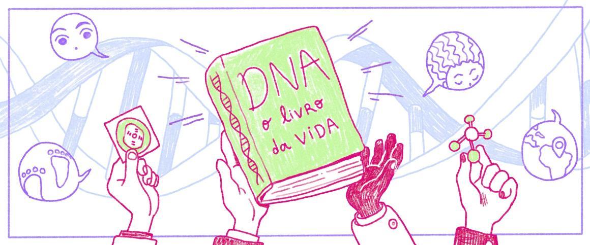 Manual de Instruções, sendo DNA o título do livro