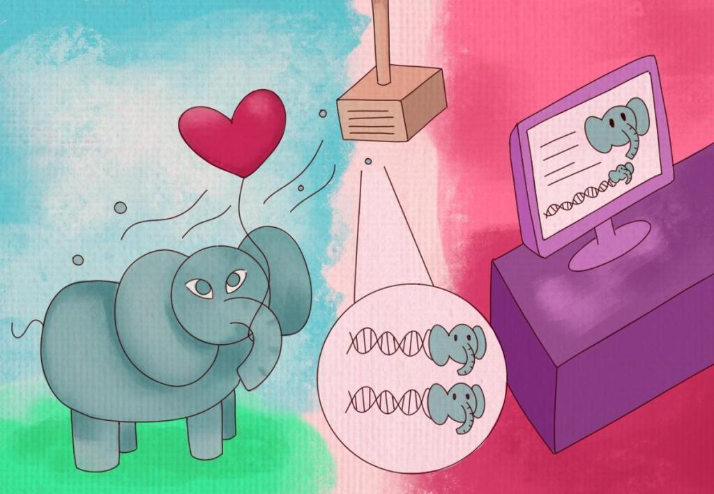 Ilustração do desenho experimental das pesquisas de DNA ambiental no ar