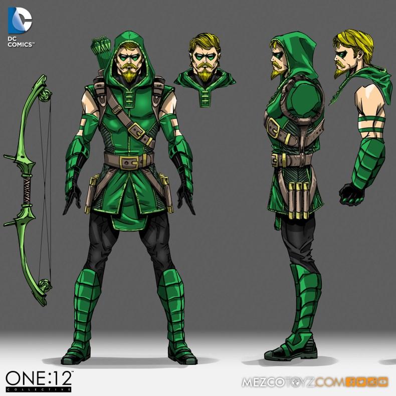One:12 Collective Green Arrow Concept Sketch