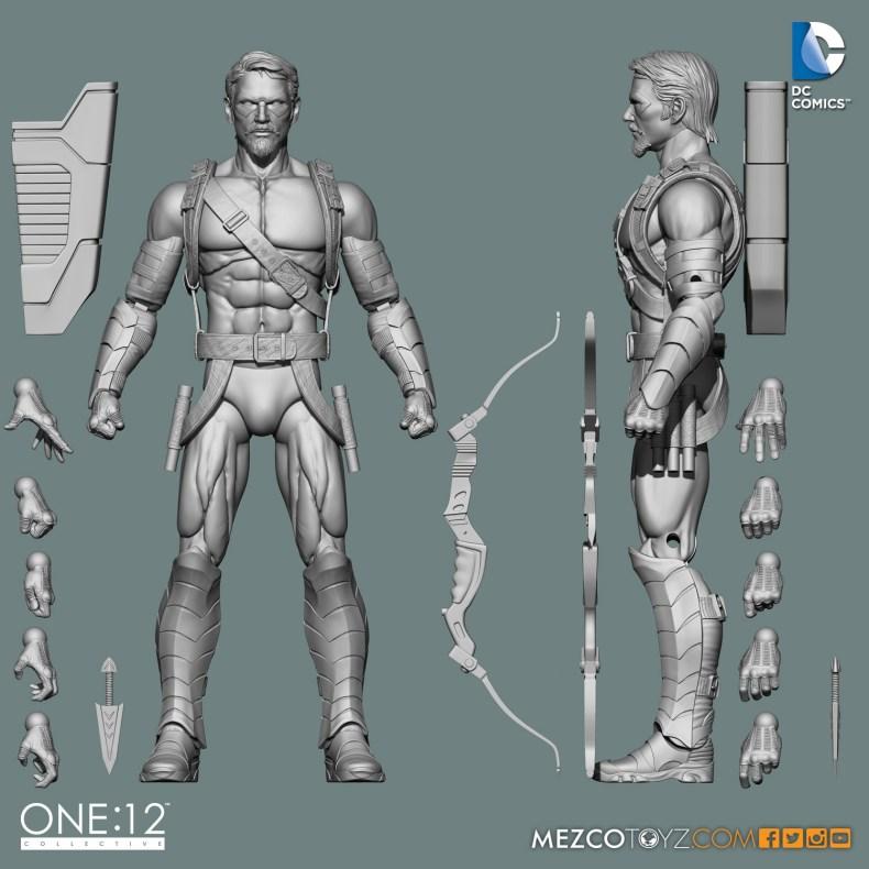 One:12 Collective Green Arrow 3D Art