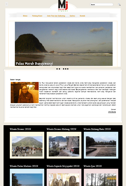 Website Mj Tour Travel Indonesia (http://mjtourindonesia.com) Personal Project 2014