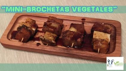 Mini-brochetas vegetales