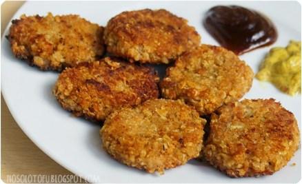 receta de nuggets veganos