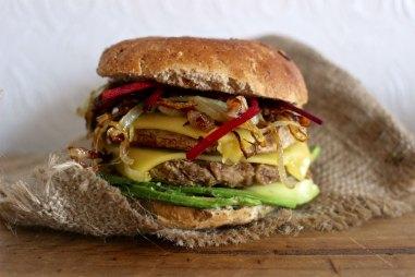 receta vegana de hamburguesa vegana de chorizo