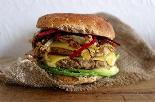 receta vegana de hamburguesa de chorizo
