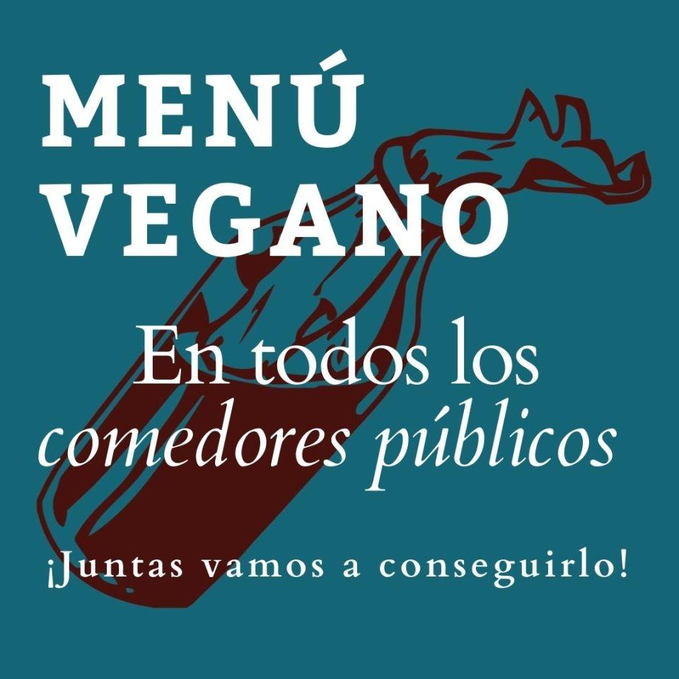menú vegano en los comedores públicos
