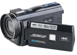 Somikon 4K-UHD-Camcorder DV-880.uhd mit Panasonic-Sensor