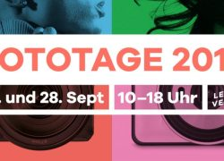BERLINER FOTOTAGE 2019, am Fr., 27. & Sa., 28. September 2019