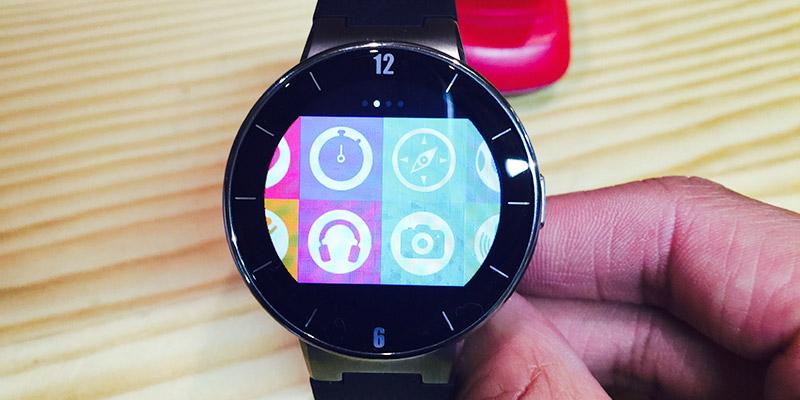 Alcatel Watch - hlavní menu