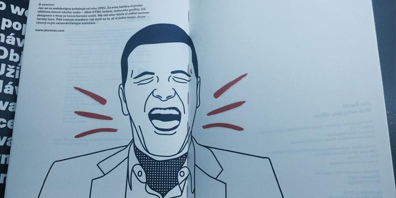 Web ostrý jak břitva - Pověstný smích pan Řezáče je vyobrazen i v knížce samotné