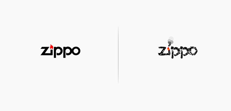 Loga podle svých produktů - Zippo