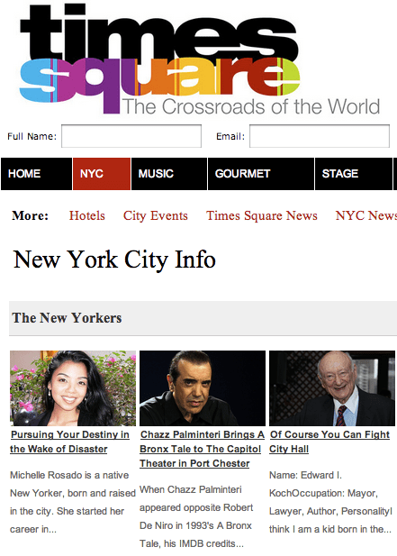 Michelle Rosado in TimesSquare.com