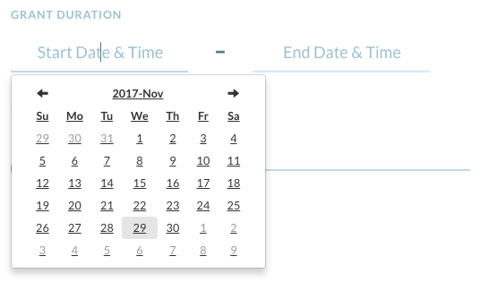 matching grants tool - date and time