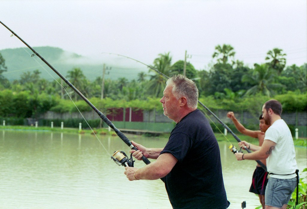 My dad and me, fishing at Top Cat's