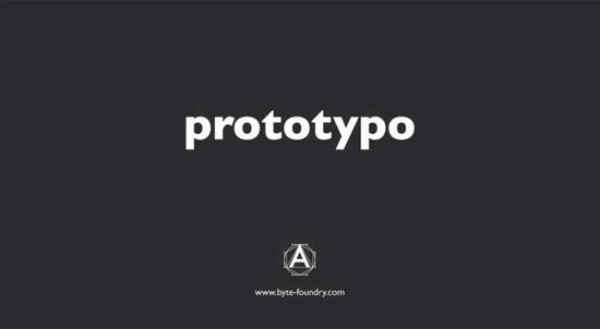 Prototypo – diseñar tipografía fácilmente