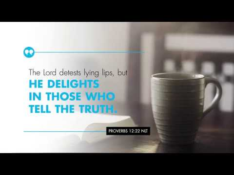 K-LOVE's Encouraging Word: Proverbs 12:22 – YouTube