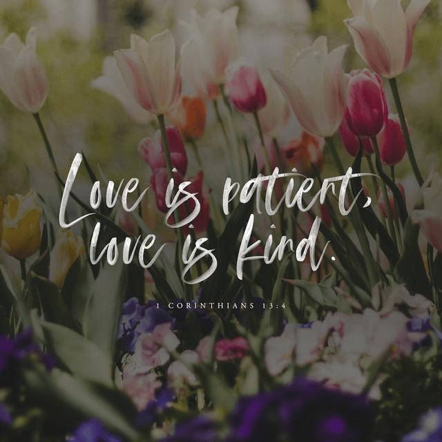 1 Corinthians 13:4-5 NIV