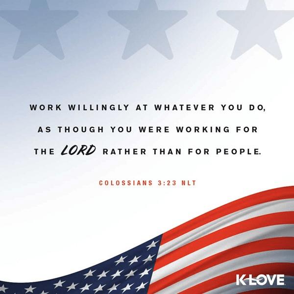 Colossians 3:23 (NLT)