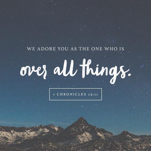 1 Chronicles 29:11 NLT