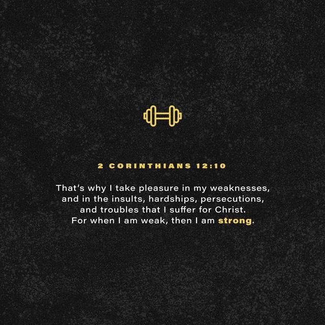 2 Corinthians 12:10 NIV