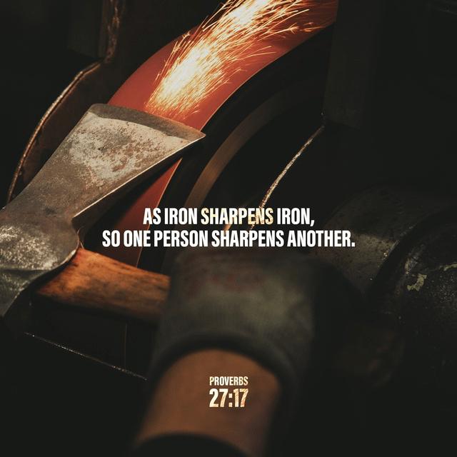 Proverbs 27:17 NIV