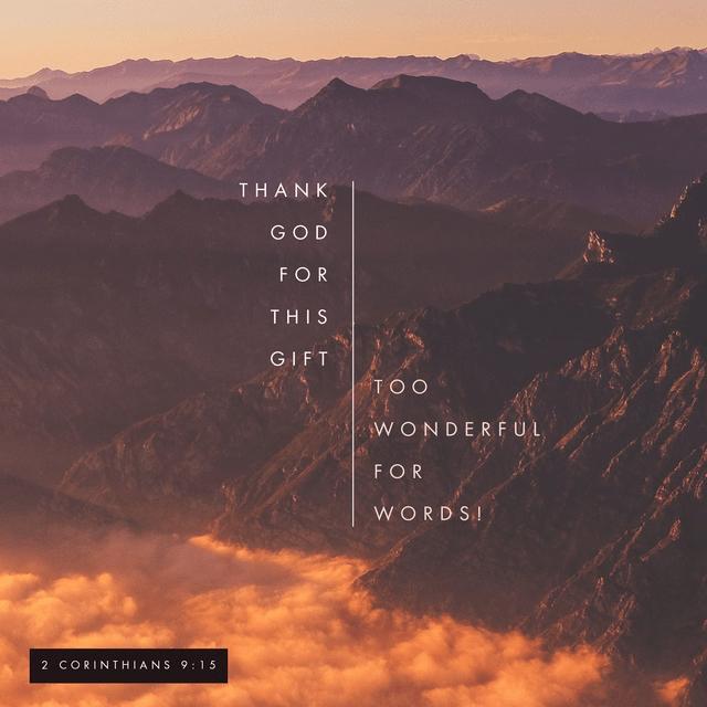2 Corinthians 9:15 NLT