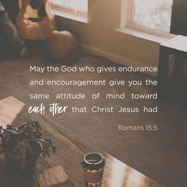 Romans 15:5-6 NIV