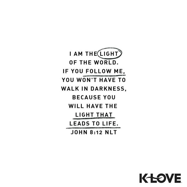 John 8:12 (NLT)