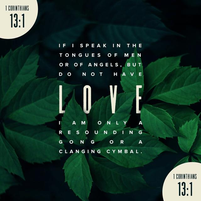 1 Corinthians 13:1 NIV