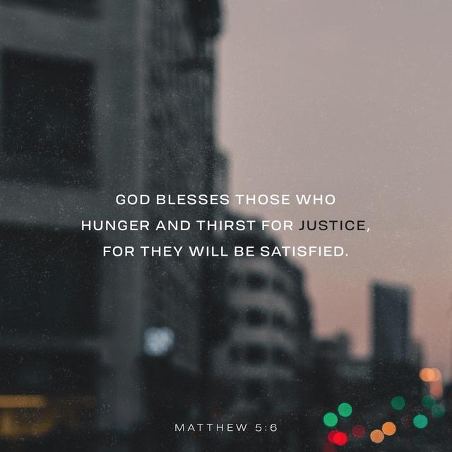 Matthew 5:6 NLT