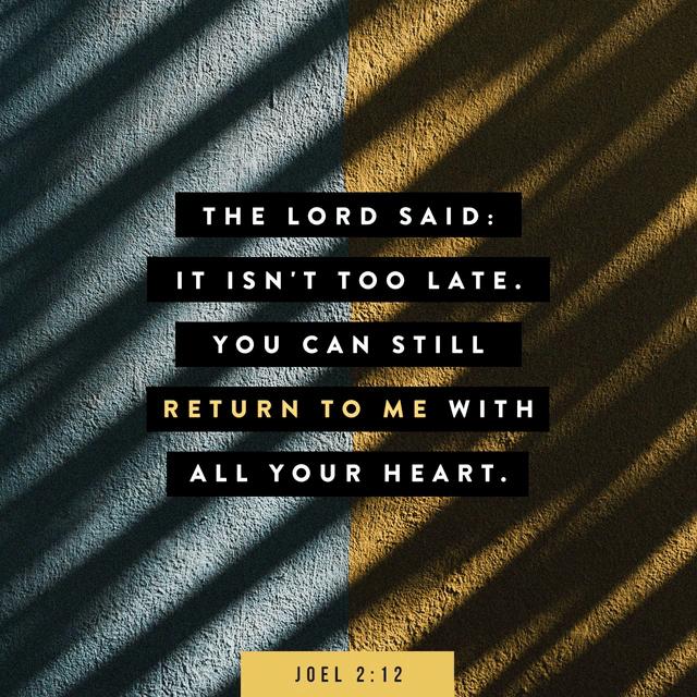 Joel 2:12 CEV