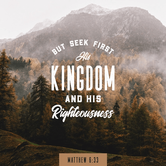 Matthew 6:33 NIV