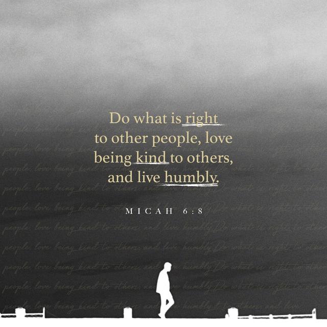 Micah 6:8 NCV