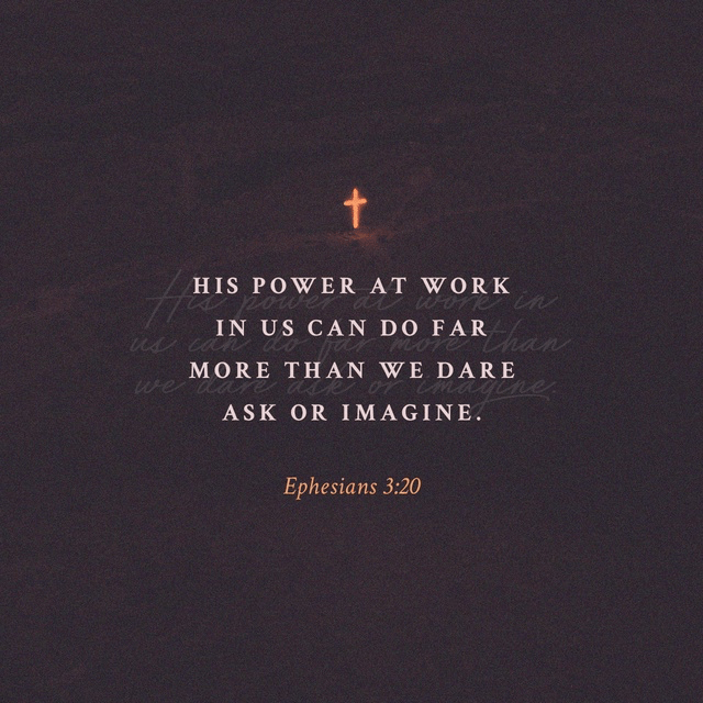 Ephesians 3:20-21 CEV