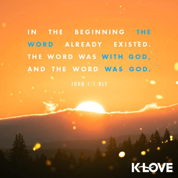 John 1:1 (NLT)