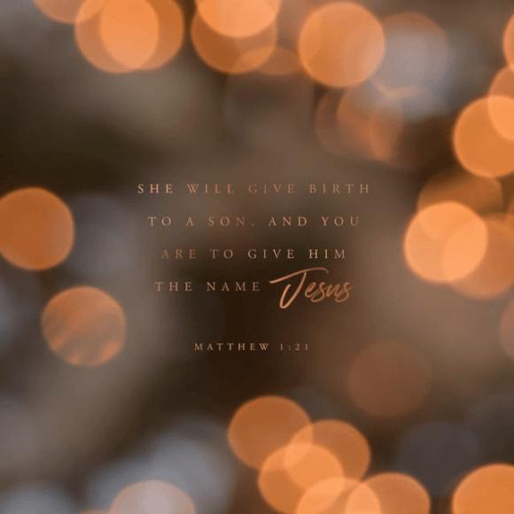 Matthew 1:21 NIV
