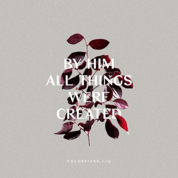 Colossians 1:16 NIV