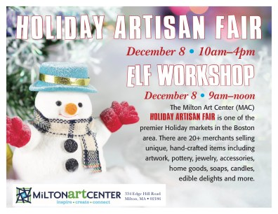 The Milton Art Center is holding an Elf Workshop!