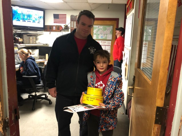 Tucker students baked and decorated cookies and wrote thank you letters to firefighters. Thank you to 4th grader Colin Speck for bringing the delicious cookies to our brave Milton firefighters.