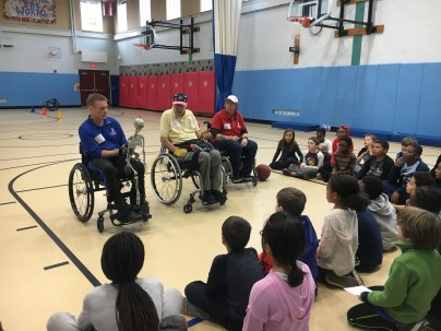 Tucker 4th graders learn about life in a wheelchair thanks to members of the Paralyzed Veterans of America.