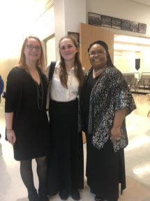 Julia Hanna and Isabelle Felony with Conductor Dr. Felicia Barber