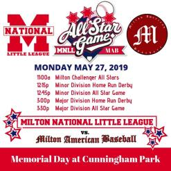 Come cheer on our local baseball superstars on Memorial Day!
